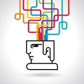Modern Brain Concept — Stock Vector