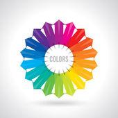 Ruota dei colori — Vettoriale Stock
