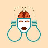 Human head thinking new idea — Stock Vector