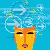 Düşünceler ve seçenekleri — Stok Vektör