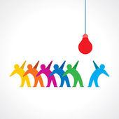 Teamwork idea — Stock Vector