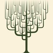 Vector de icono de árbol abstracto — Vector de stock