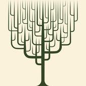 Vector van abstracte boom pictogram — Stockvector