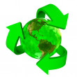 Green Earth eco symbol - America — Stock Photo