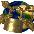 New World Order (NWO) - world in chains — Stock Photo #22968034