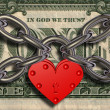 We love money - heart lock and money — Stock Photo #22968332