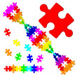 Colored DNspiral from puzzle — Stock Photo #26066719