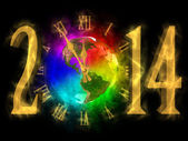 Happy new year 2014 - America — Foto Stock