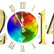Happy new year 2014 - America — Stock Photo #34835111