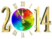 Happy new year 2014 - America — Foto de Stock