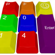Happy new year 2014 - pc keys — Stock Photo #34855415