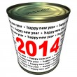 Happy new year 2014 - cwith numbers 2014 — Stock Photo #35560701
