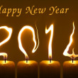 Happy new year 2014, PF 2014 candles — Stock Photo