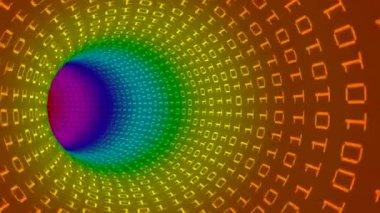 Rainbow data stream loop — Stock Video