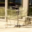 Tisch und Stühle — Stockfoto