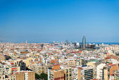 Barcelona bird view cityscape — Stock Photo