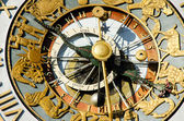 Close-up of the clock of Oslo City Hall — Stok fotoğraf