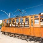 Classic wood tram train of Puerto de Soller — Stock Photo
