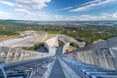 View on oslo from ski jump — Stock Photo