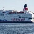 Stock Photo: Stena Saga leaving Oslo