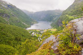 Geiranger fjord Norway — Stock Photo