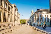 Oslo main street Karl Johans Gate — Stock Photo