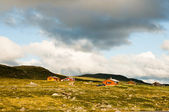 Mountain farm in Norway — Stock Photo