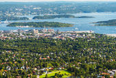 Panorama view of Oslo Norway — Stock Photo