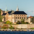 View on Oslo Fjord harbor and Akershus Fortress, Oslo, Norway — Stock Photo #13413932