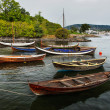 Group of colorful wooden boats — Stockfoto #13414076