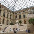 Sculpture hall of the Louvre museum Paris France — Stock Photo
