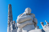 Statues at Frogner Park Oslo Norway — Stock Photo
