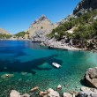 Bay with boat at Mallorca — Stock Photo #13863250