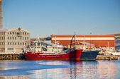Navios no porto de tromso — Fotografia Stock