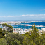Aerial view of Palma de Mallorca in Majorca Balearic islands — Stock Photo