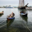 Wooden boats in Fjord — Stock Photo #13980223