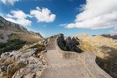 Stairs at Mallorca mountain Spain — Stock Photo
