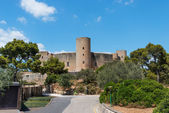 Bellver Castle Castillo tower in Majorca at Palma de Mallorca Ba — Stock Photo