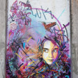 Foto Stock: C215 street painting in Oslo girl