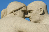 Vigeland park statues face to face — Stock Photo