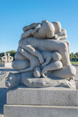 Vigeland park statues bodies — Stock Photo