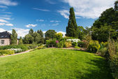 Botanická zahrada v oslo norsko na léto — Stock fotografie