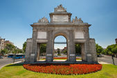 Toledos gate or Puerta de Toledoat in Madrid — Stock Photo