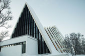 View of the Tromso Cathedral — Stock fotografie