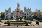 Cibeles Fountain Madrid — Stock Photo