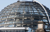 Cupola on top of the Reichstag — Stok fotoğraf