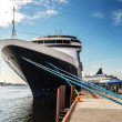 Prow front view of a large cruise ship - Stock Photo