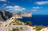 Car on road near cape Formentor — Stock Photo