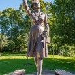 Stock Photo: Princess Marthstatue in Slotsparken Oslo