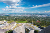 View from ski jumping arena in Oslo Norway — Stock Photo